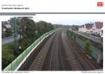 Simulation der Lärmschutzwände in Höhe Frankfurter Straße (Fotos: Bahn)